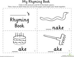 learn rhyming with word family worksheets education com