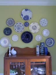 i have a blue and white plate collection country kitchen