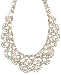 bib necklace metal images Diamond cut bib necklace in 14k gold necklaces jewelry tif