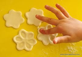 salt dough flower fingerprints