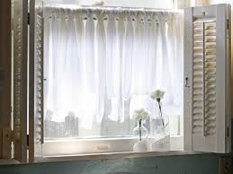 Gray Cafe Curtains Interior White Sheer Cafe Curtains For Cozy Bathroom Window Design