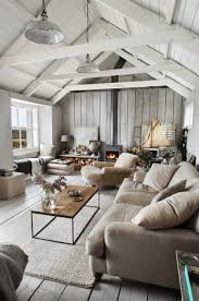 Joint Living Room And Kitchen Expose Your Rusticity With Exposed Beams
