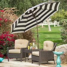 California Patio Umbrellas 7 5 Ft Patio Umbrella With Navy And White Stripe Outdoor