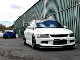subaru evo modified stanced mitsubishi lancer evo at first class fitment mind over motor
