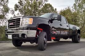 lifted gmc dually precision fabrication plus rdp xtreme gm solid axle swap kit