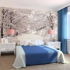 Schlafzimmer Fototapete Schlafzimmer Ideen Wandgestaltung Mit Schneelandschaft Fototapeten