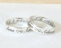 personalized engraved rings custom engraved ring etsy