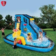inflatable bounce house water slide kids outdoor play backyard
