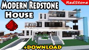 minecraft modern luxury redstone house review download smart