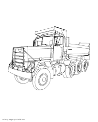 lorry coloring pages