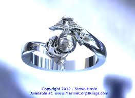 marine wedding rings beautiful gold marine corps ring model 3