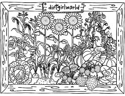 awesome vegetable garden coloring pages color luna