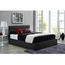Leather Upholstered Bed Modena Full Faux Leather Upholstered Bed With Headboard Black