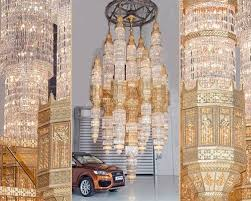 Largest Chandelier Chandeliers World S Largest Cast Chandelier Kny Design