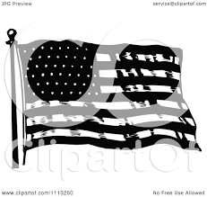 Waving American Flag Clipart Vintage Black And White Waving American Flag Royalty