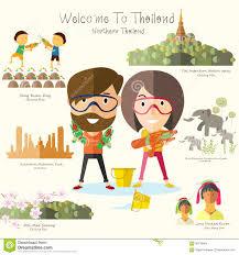 Massachusetts Travel Clipart images Tourist travel to northern thailand stock vector illustration of jpg