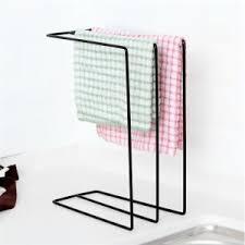 black simplicity towel bathroom toiletries storage rack rosegal com