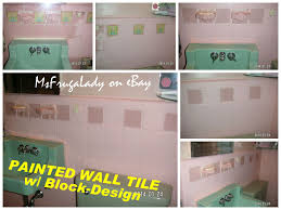diy paint block out the grout of wall tile after painting my