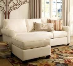 small white sectional foter