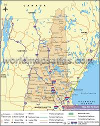 Canada Highway Map by Road Map Of New Hampshire New Hampshire Road Map