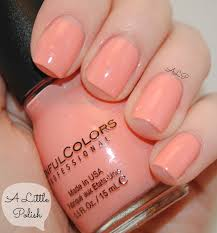 a little polish sinful colors orange cream