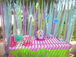 mermaid party supplies arianna s 3rd birthday party decorations the mermaid party