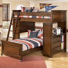Solid Wood Bunk Beds With Storage Wonderful Solid Wood Bunk Bed Wash Oak Solid Wood
