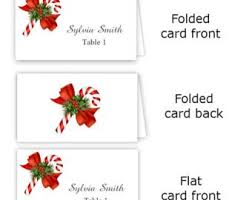 place setting template templates for customizable holiday place setting cards diy in