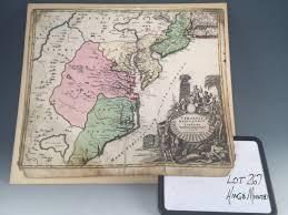 Map Of Virginia by Lot 267 Johann Baptist Homann Map Of Virginia Maryland And