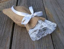 lace favor bags burlap and lace favor bags wedding juxtapost