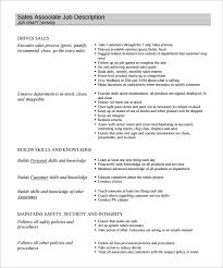 Sale Associate Job Description On Resume by Job Description Template U2013 47 Free Word Excel Pdf Format