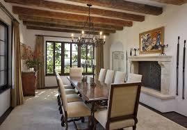 mediterranean dining room with exposed beam u0026 hardwood floors in