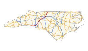 Highway Map Of Usa U S Route 29 In North Carolina Wikipedia