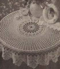 Crochet Table Cloth Crochet Tablecloth Pattern Vintage Crochet Crochet Art