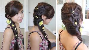 Fancy Updo Hairstyles For Long Hair by Fancy Fishtail Braid Hairstyle For Medium Long Hair Tutorial Youtube