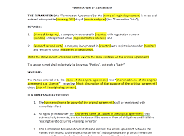 free non disclosure agreement template uk termination of agreement template uk template agreements and termination of agreement template