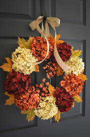etsy thanksgiving decorations fall hydrangea wreath fall wreath fall decor wreath