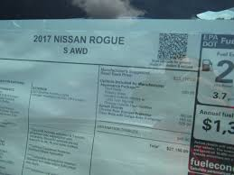 nissan rogue gas mileage new 2017 nissan rogue s sport utility in vandalia n17t238 beau