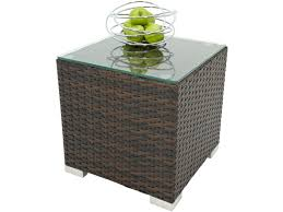 rattan side table outdoor rattan side table coffee table brown outdoor side table