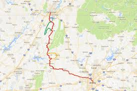 Chattanooga Map About 150 Cyclists To Ride New Route From Chattanooga To Atlanta