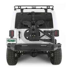 black jeep wrangler unlimited smittybilt 76857 gen2 bolt on tire carrier for 07 17 jeep