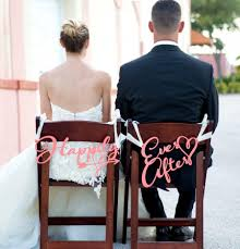 and groom chair signs wedding chair signs happily after signs for wedding chairs