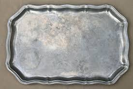 pewter serving platter pewter serving tray delft porcelain and pewter rimmed serving tray