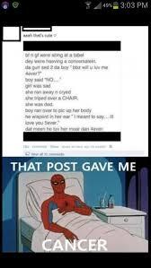 Gave Me Cancer Meme - that post gave me cancer meme collection pinterest memes meme