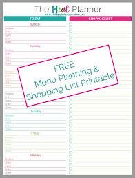 printable menu planner pages printable meal planner weeklymenu janna wilson free printable