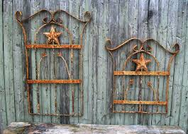 chase wrought iron art work metal star