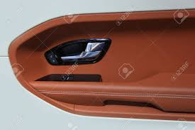 interior design of luxury car door stock photo picture and