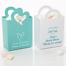personalized favor boxes wedding bridal shower personalized mini tote favor boxes