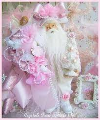 shabby chic pink and gold glam angel christmas tree topper