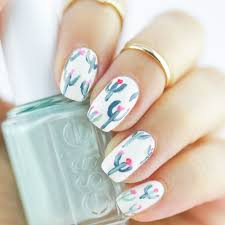 perfect music festival nails cactus nail art nail that accent